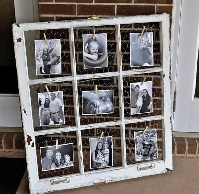 Wooden Window Pane Picture Frame