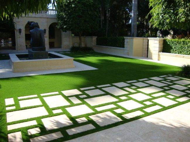 Artificial Grass Outdoor Flooring Ideas