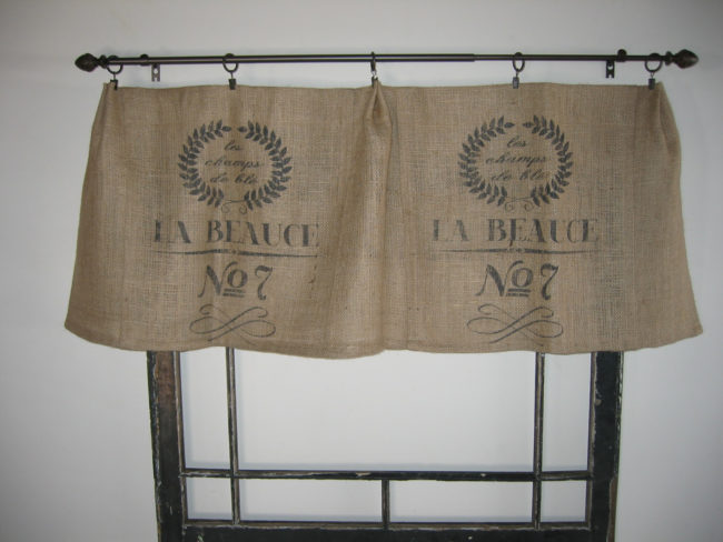 Burlap Bag Valances