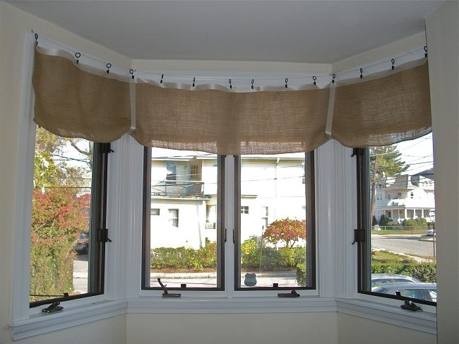 Burlap Valances for Windows