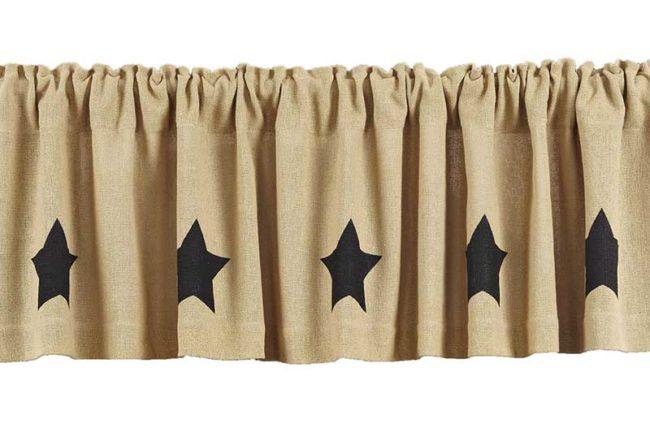 Burlap Valances with Stars