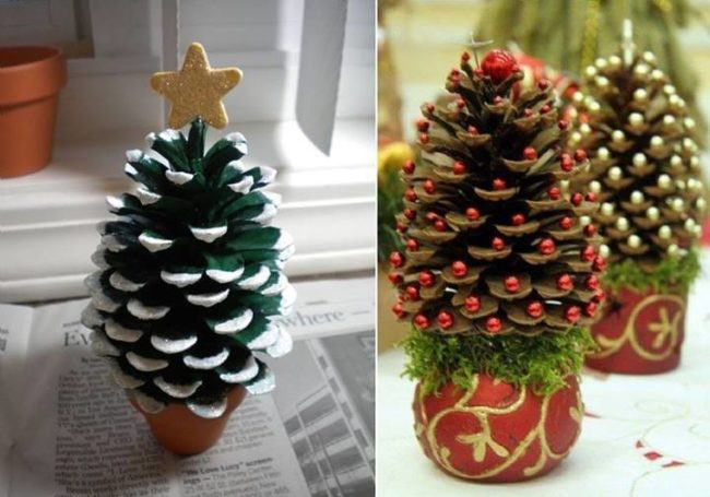 Christmas Decorations with Pine Cones