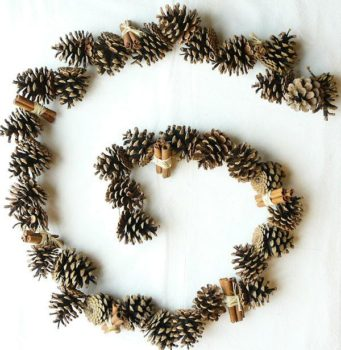 Garland with Pine Cones