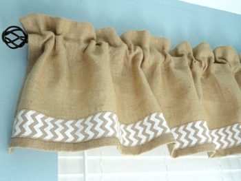 How to Sew a Burlap Valance