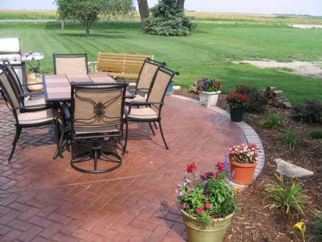 Patterned Patio Outdoor Flooring Ideas