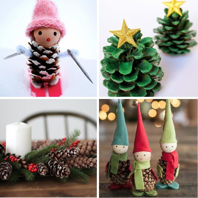 23 cute patterns for pinecone garland inhabit zone for Pine cone christmas tree craft