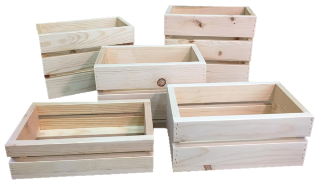 Small crates wooden