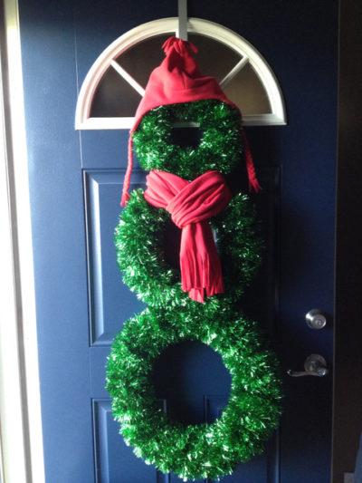 Make Snowman Wreath