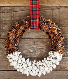 Painted Pine Cone Wreath