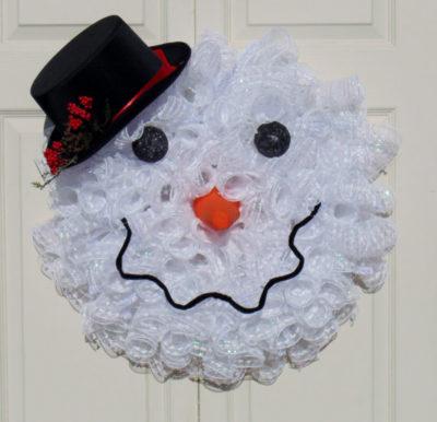 Snowman Head Wreath