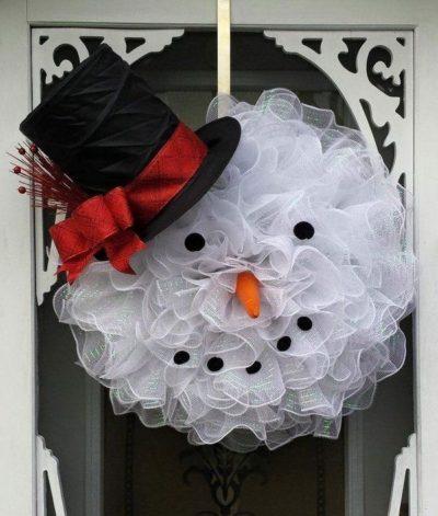 Snowman Wreath DIY