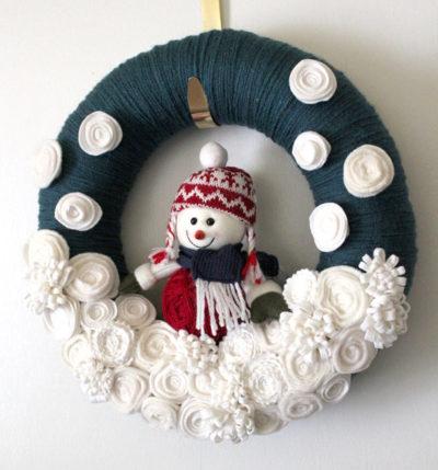Snowman Wreath Ideas