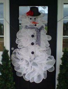 Snowman Wreath for Door