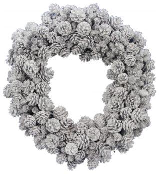 White Pine Cone Wreath