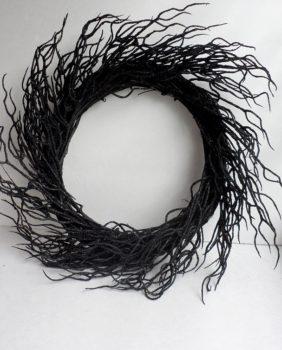 Black Twig Wreath
