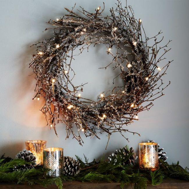 Glitter Twig Wreath