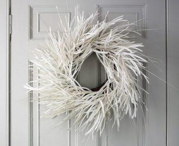 White Twig Wreath