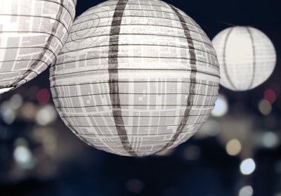 Death Star Paper Lanterns