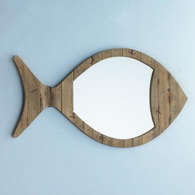 Driftwood Fish Mirror