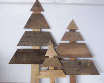 Flat Wooden Christmas Tree