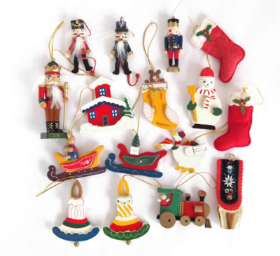 German Wooden Christmas Tree Ornaments