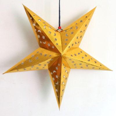 Gold Paper Star Lantern