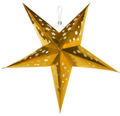 Gold Paper Star Lanterns