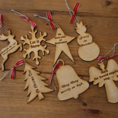Handmade Wooden Christmas Tree Ornaments