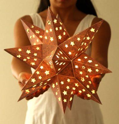 Metal Paper Star Lantern
