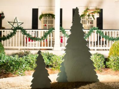 Outdoor Wooden Christmas Tree