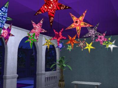 Paper Star Lights for Ceiling