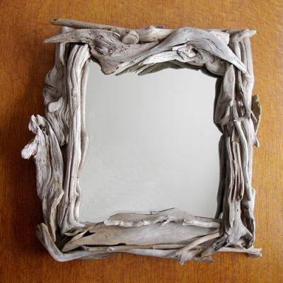 Small Driftwood Mirror