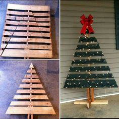 Wooden Christmas Tree Pallet