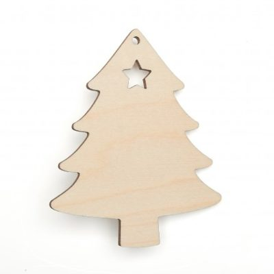Wooden Christmas Tree Shapes