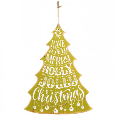 Wooden Christmas Tree Sign