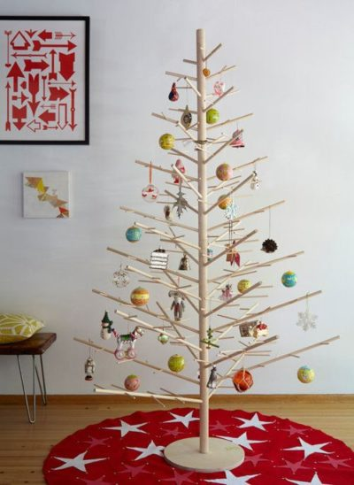 Wooden Display Christmas Tree