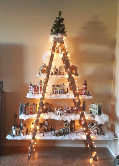 Wooden Ladder Christmas Tree