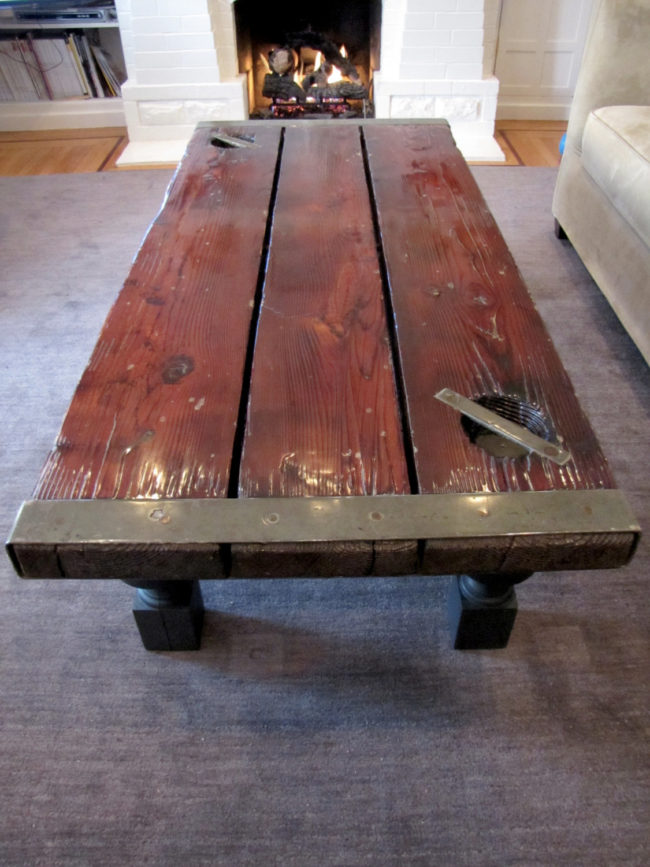 14 Coffee Tables Made From Old Doors Inhabit Zone