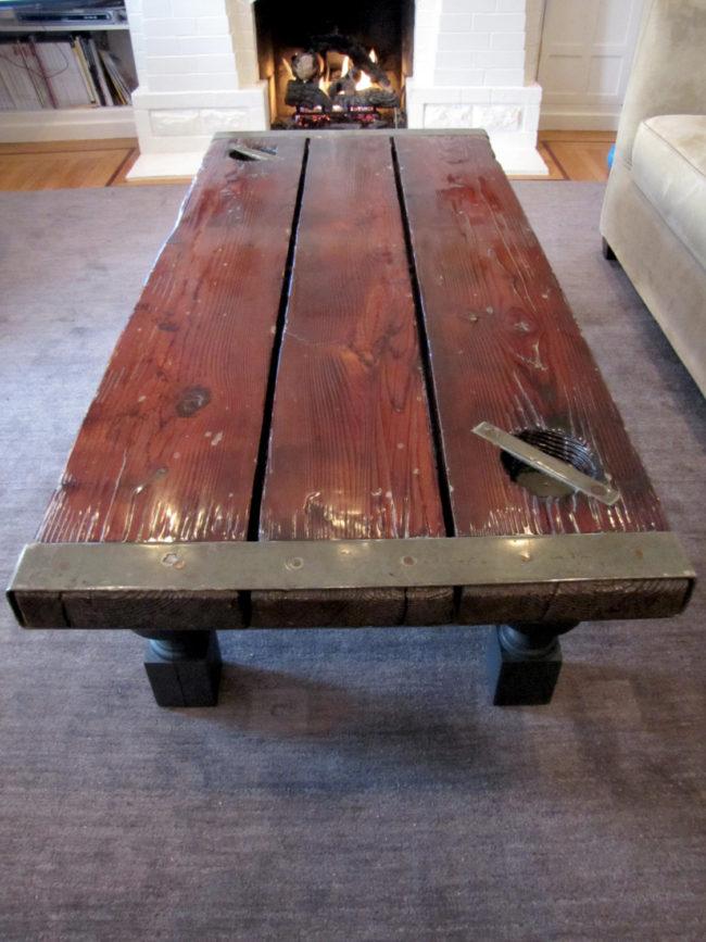 Old Ship Door Coffee Table