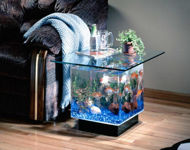 Acrylic Aquarium Fish Tank Coffee Table