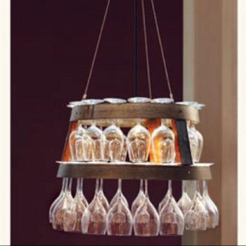 Barrel Ring Wine Glass Chandelier