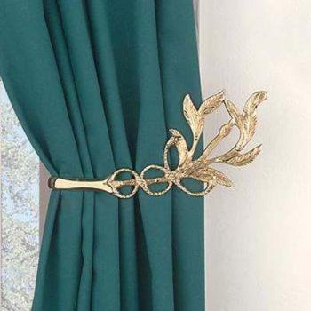 Brass Curtain Tie Backs