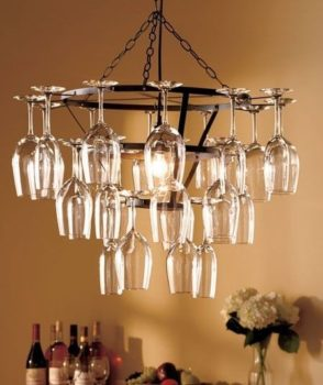Creative ideas about wine glass chandelier inhabit zone bronze finished wine glass rack chandelier aloadofball Image collections