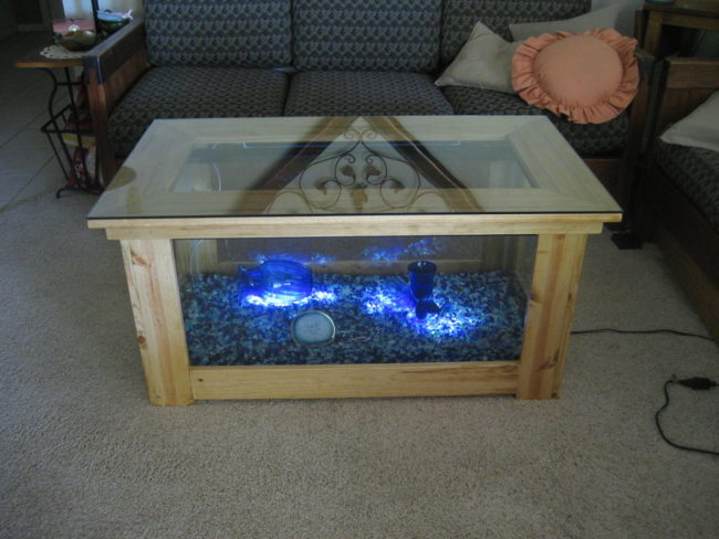 unique designs of aquarium fish tank coffee table