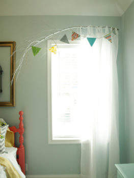 Curved Branch Curtain Rod