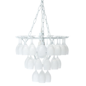 Frosted Wine Glass Chandelier
