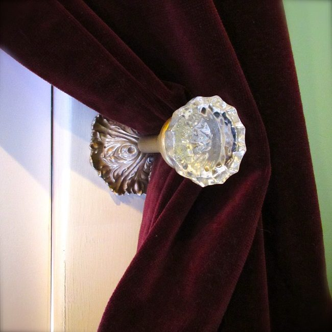 Glass Curtain Tie Backs