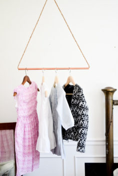 Hanging Copper Pipe Clothing Rack