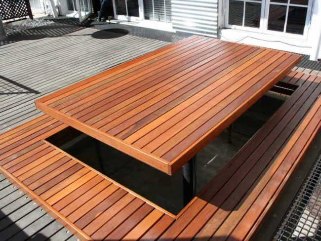 Large Wooden Picnic Tables
