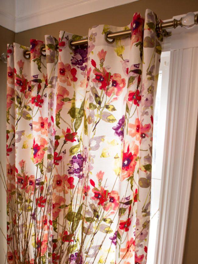 No-Sew Drop Cloth Curtains